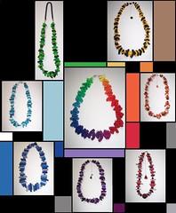 Explosin de color (Nuhbe) Tags: blue red orange green yellow necklace rainbow purple polymerclay