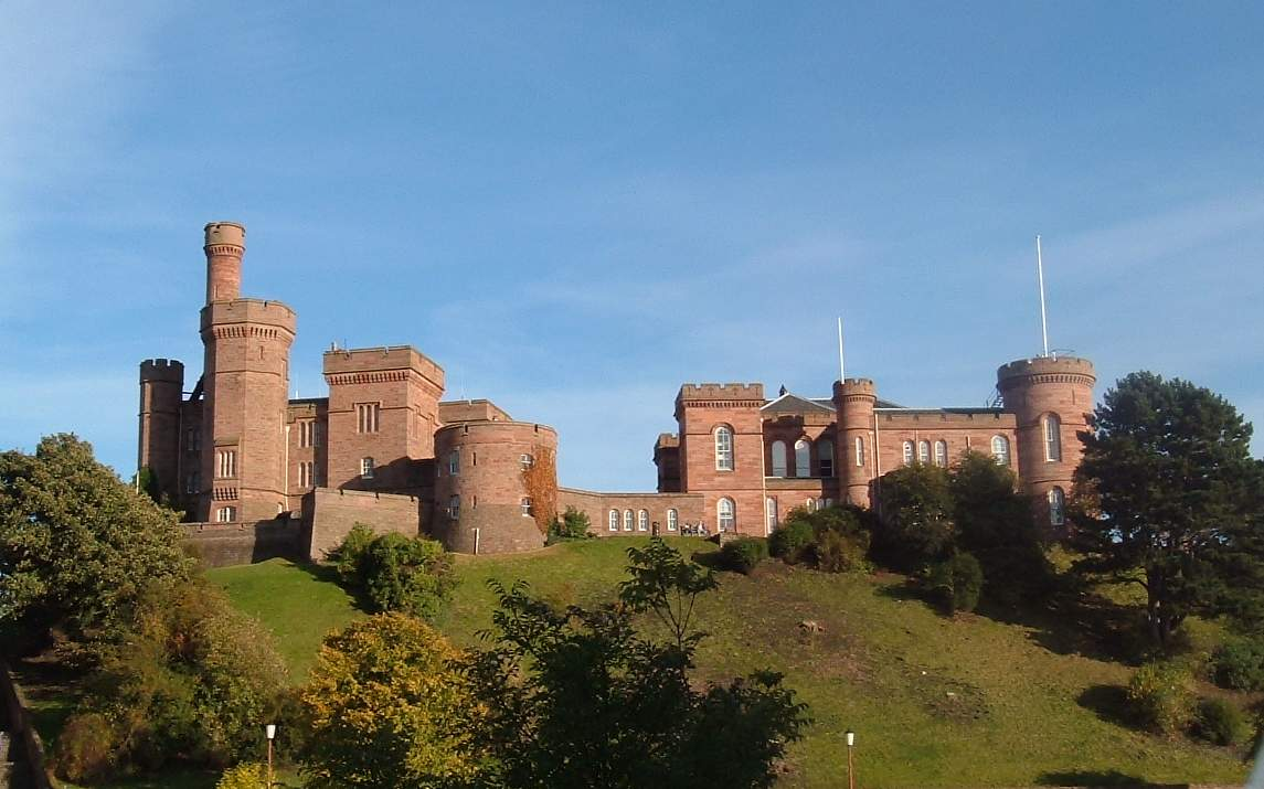 Inverness Castle, Scotland, UK. The building was completed in two parts, in the 1840's and 1850's.