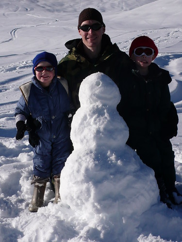 The boys who built the snowman