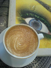 Looking at coffe