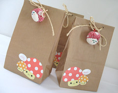 Lucky Parcel - Bags - (Warm 'n Fuzzy) Tags: cute mushroom bag fun handmade sewing craft fabric swap kawaii brownbag mushie sewingsupplies luckyparcel luckyparcelswap