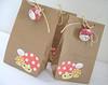 Lucky Parcel - Bags - (Warm 'n Fuzzy) Tags: cute mushroom bag fun handmade sewing craft fabric swap kawaii brownbag mushie sewingsupplies luckyparcel luckyparcelswap