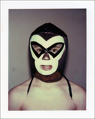 Lexington, Mass., January 2008 (robert schneider (rolopix)) Tags: red black film ma polaroid mask lexington massachusetts gray newengland son luchalibre mass expired outdated bostonist packfilm magicube bigshot mexicanwrestlingmask outofdate type669 peelapart massachusettslife january2008 whatagoof bostonburbs