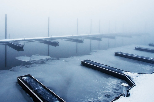 Docks In Fog