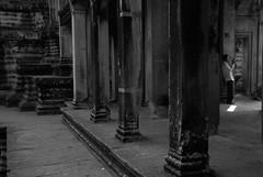 The Shadows (CiaoChessa) Tags: city travel people urban blackandwhite bw holiday architecture temple ruins worship asia cambodia seasia khmer prayer pray wb angkorwat wat whiteandblack ciaochessa monicalshulman copyrightmonicalshulman