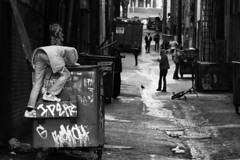 (Christian Webber) Tags: white black dumpster alley east hastings feb708