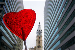 Philly Valentine (blonde_sage) Tags: philadelphia heart centercity cityhall lolipop vday philly taffy valentinesday williampenn contestvalentinesday 5lollipop ittastedlikeludenscoughdrops