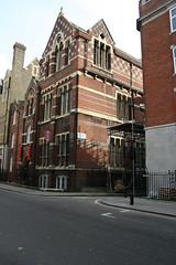 The entrance to Marylebone Passage