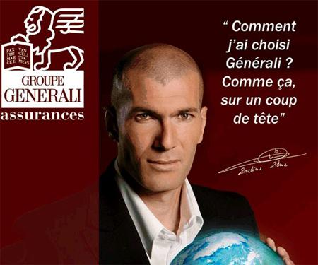 Zidane choisit le Groupe Generali