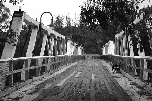 Bridge in Genoa, the last town in Victoria along the Hwy 1...