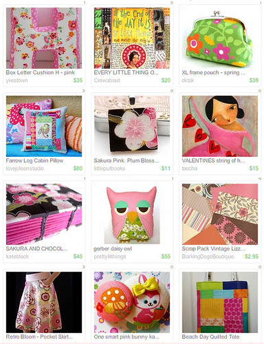 My first Treasury at Etsy