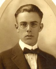 Handsome HS grad c 1919 USA  Portrait (pince_nez2008) Tags: sexy nose glasses handsome teenager graduate eyeglasses eyewear eyeglass pincenez noseclip noseeyeglasses