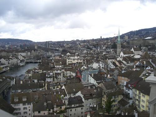 Vista aérea de Zurich