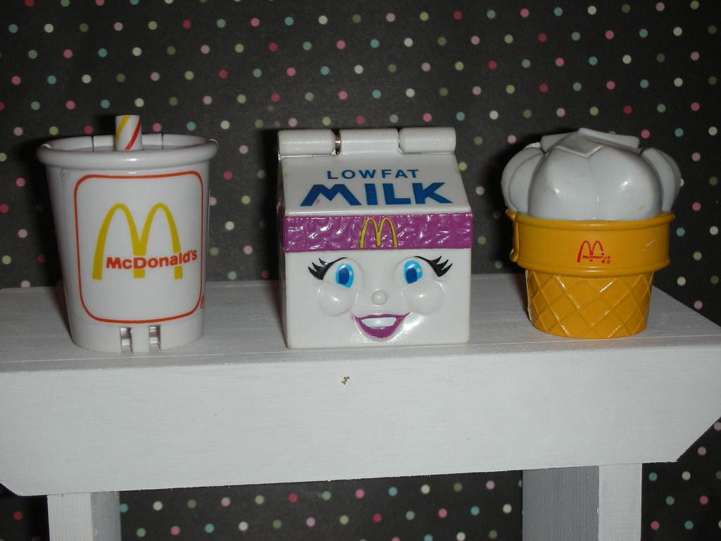 Vintage Mcdonalds Robo food toys