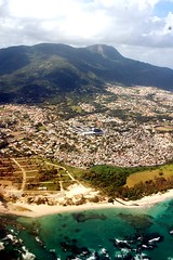 Ain't No Mountain High Enough (Emmy Gee) Tags: ocean mountain beautiful d50 dominicanrepublic gorgeous coastline airplaneview