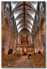 Ancient Beauty (Roger.C) Tags: roof church canon hall raw cathedral seats gloucester pillars hdr 30d supershot platinumphoto anawesomeshot goldstaraward
