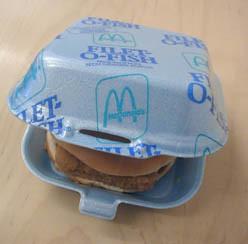 McDonalds Styrofoam Package