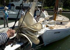 Docking Polaris (RoddyB) Tags: sailboat wooden sailing sanfranciscobay angelisland polaris ayalacove swbc sfbaywoodenboats spauldingcenter