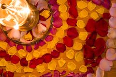 Vishu 2008 (Kris Kumar) Tags: usa ny flower home festival lowlight decoration noflash rochester april rosepetals 2008 arrangement flowerarrangement vishu pittsford malayalee vishukkani canon50mm pookalam pookkalam vishukani keralites canon40d