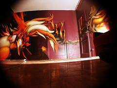 geri's room (mrzero) Tags: detail art lines wall effects graffiti 3d paint hungary eger letters spray fisheye heat styles colored graff cfs hepi mrzero bki