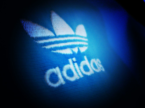 Adidas Logo in Lomography technique