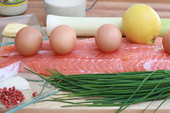Ingrédients pour une terrine de saumon