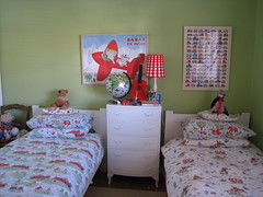 boys bedroom (lulucarter) Tags: red green children globe bedroom guitar chest lola babar bedding cathkidston