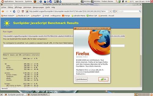 SunSpider avec Firefox 3.0.1