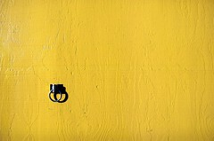 yellow with ring (xgray) Tags: light shadow color texture film yellow metal wall analog canon austin eos nc texas afternoon kodak minimal ring negativespace minimalism ef2470mmf28lusm 160 portra160nc 160nc kodakportra160nc 1n uploadx canoneos1n kodakprofessionalportra160nc featuredonadidapcom xgv08 top2008