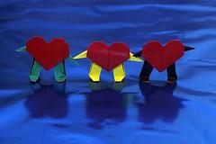 Origami Mr. Heart (Jo Nakashima) (De Rode Olifant) Tags: jonakashima mrheart origami tutorial paper paperfolding marjansmeijsters 3d heart