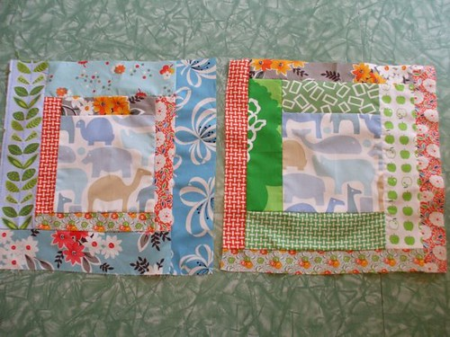 two quilt squares for pearl