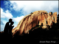 Tryst with God in mountains.. (y'O'gs) Tags: mountain silhouette god bangalore ganesh ganapati ramanagaram ramanagara ramdevarabetta jaiganesh