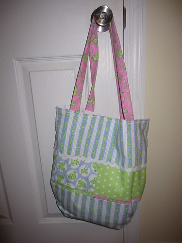 Funky Frogs Tote Bag