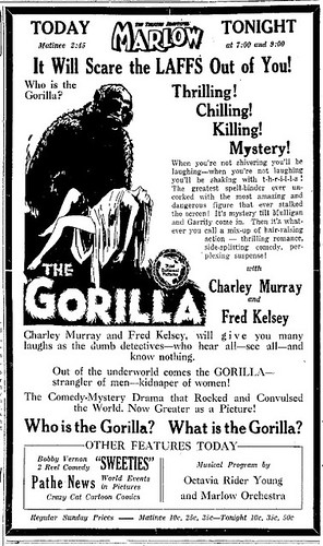 THE GORILLA (1927) Print Advertisement 3-4-28