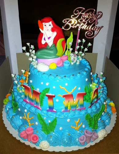 Mima S Little Mermaid Birthday Cake A Photo On Flickriver