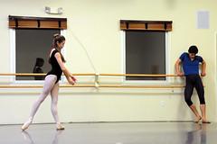 Ballet Rehearsal (photographics@snet.net) Tags: ballet dance rehearsal maledancer pinktights nikond300