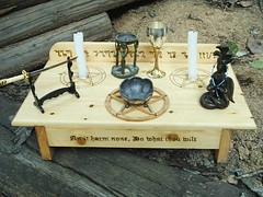 Wiccan Altar Set Up (dragonoak) Tags: wood witch altar pentagram occult wicca pentacle pagan wiccan