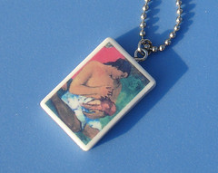 Gauguin Breastfeeding Pendant Necklace (suchprettycolors) Tags: family woman baby art mom necklace milk handmade mother craft jewelry mama attachment breastfeeding nursing pendant parenting gauguin mothering
