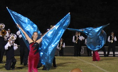 Sarah performs with wings
