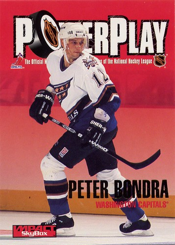 Peter Bondra, Washington Capitals, NHL, hockey card, skybox impact, 96 97