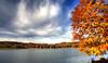 l'automne au grand maclu (~ yobert ~) Tags: blue autumn sun lake france color tree forest canon 350d lac jura sheet hdr franchecomté cloods champagnole maclu aplusphoto frasnois thegoldenmermaid