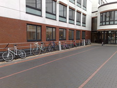 Cycle parking outside WBS