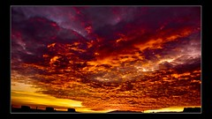 Fire In The Sky  07 11 07 (edouardv66) Tags: sunset color clouds contrast lumix switzerland suisse geneva nuages genève soleilcouchant dmclx2