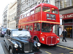 London's Moving History (Canadian Pacific) Tags: street city england black bus london downtown britain cab taxi centre united great central kingdom 15 center double class east route international british routemaster fleet doubledecker taxicab decker rm londontransport fx4 aec rm1968 ald968b