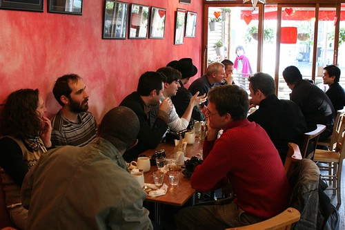 at waffle cafe