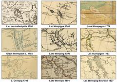 Compilation of Lake Winnipeg in Maps (1708-1827) (Manitoba Historical Maps) Tags: history maps manitoba lakewinnipeg cartographymanitobahistory