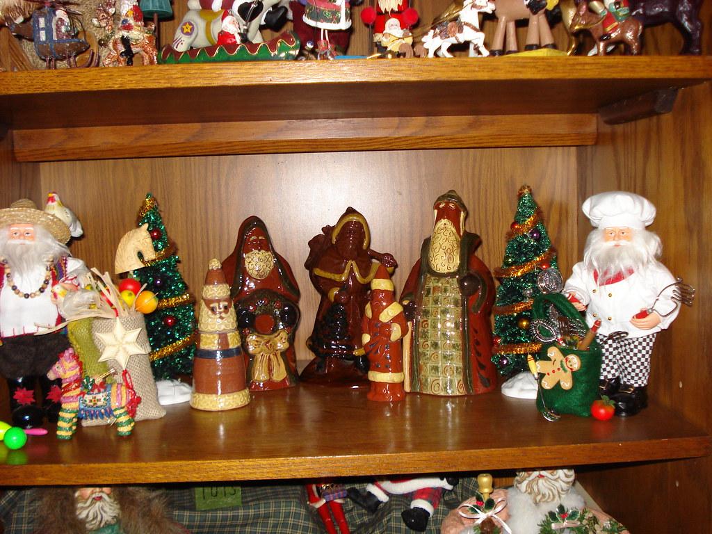Redware Santas