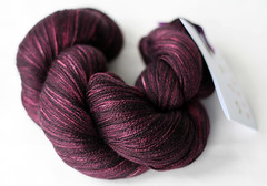 Black over Fuschia (chavala) Tags: knitting yarn sundara silklace knitbest