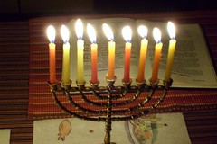 Chanukkah at home (last night)
