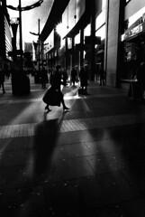 (Andy Duncan (MJ)) Tags: street bw blancoynegro film monochrome manchester blackwhite 28mm documentary chewinggum ilford fm2 harveynichols chuddy greatermanchester andyduncan newcathedralstreet pelicule